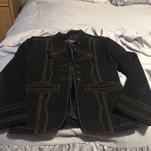Women's suede jacket.